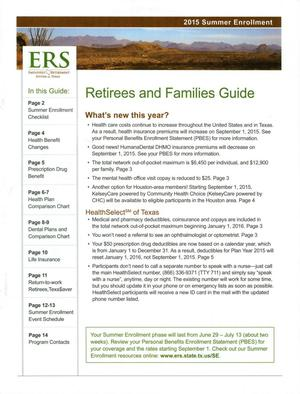 Primary view of object titled '2015 Summer Enrollment: Retirees and Families Guide'.