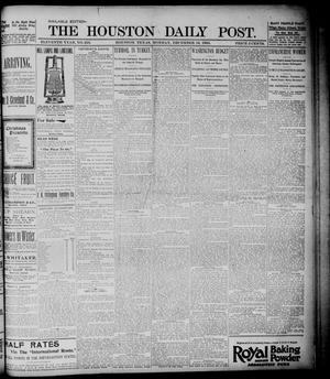 Primary view of object titled 'The Houston Daily Post (Houston, Tex.), Vol. ELEVENTH YEAR, No. 256, Ed. 1, Monday, December 16, 1895'.