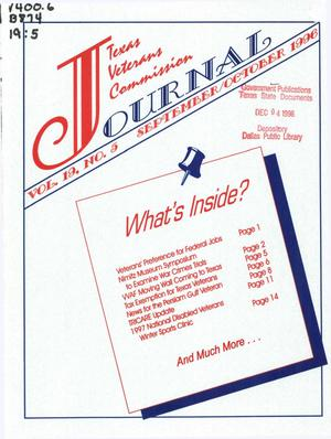 Primary view of object titled 'Texas Veterans Commission Journal, Volume 22, Issue 5, September/October 1999'.