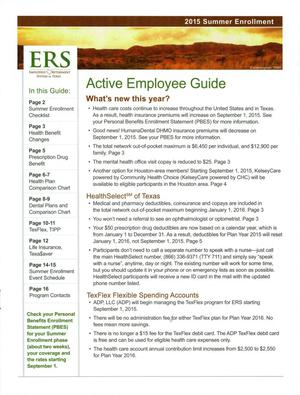 Primary view of object titled '2015 Summer Enrollment: Active Employee Guide'.