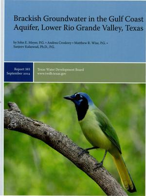 Primary view of object titled 'Brackish Groundwater in the Gulf Coast Acquirer, Lower Rio Grande Valley, Texas'.