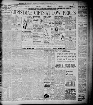 Primary view of object titled 'The Houston Daily Post (Houston, Tex.), Vol. ELEVENTH YEAR, No. 264, Ed. 1, Tuesday, December 24, 1895'.