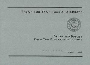 Primary view of object titled 'University of Texas at Arlington Operating Budget: 2016'.