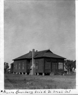 Primary view of object titled '[Photograph of northwest corner of Camp George]'.