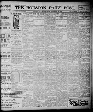 Primary view of object titled 'The Houston Daily Post (Houston, Tex.), Vol. ELEVENTH YEAR, No. 268, Ed. 1, Saturday, December 28, 1895'.