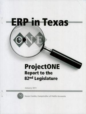 Primary view of object titled 'ERP in Texas-Project One'.