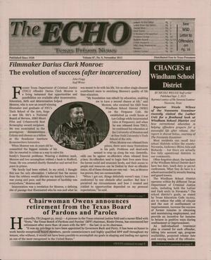 Primary view of object titled 'The ECHO, Volume 87, Number 9, November 2015'.
