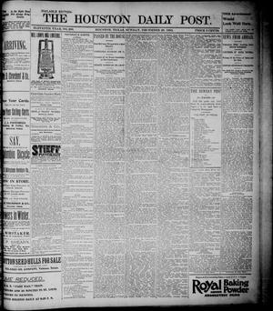 Primary view of object titled 'The Houston Daily Post (Houston, Tex.), Vol. ELEVENTH YEAR, No. 269, Ed. 1, Sunday, December 29, 1895'.