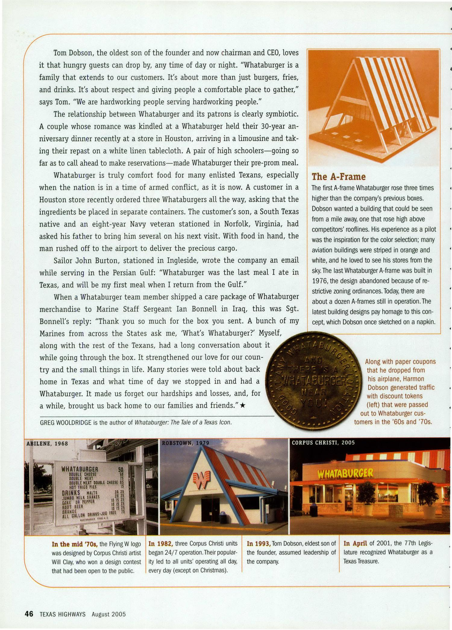 Texas Highways, Volume 52 Number 8, August 2005 - Page 46 - The ...