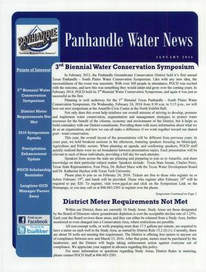 Primary view of object titled 'Panhandle Water News, January 2016'.