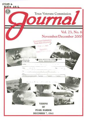 Primary view of object titled 'Texas Veterans Commission Journal, Volume 23, Issue 6, November/December 2000'.