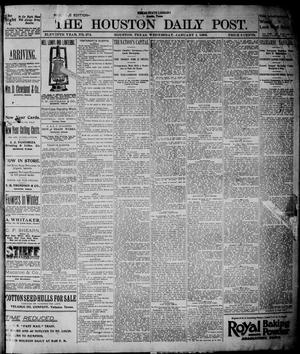 Primary view of object titled 'The Houston Daily Post (Houston, Tex.), Vol. ELEVENTH YEAR, No. 272, Ed. 1, Wednesday, January 1, 1896'.