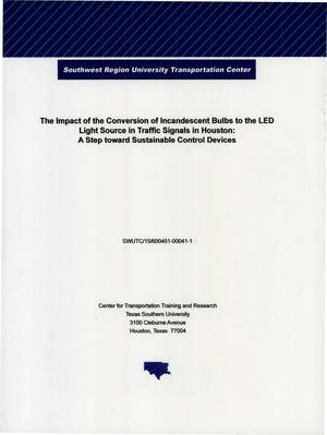Primary view of object titled 'The Impact of the Conversion of Incandescent Bulbs to LED Light Source in Traffic Signals in Houston: A Step Toward Sustainable Control Devices'.
