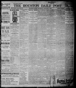 The Houston Daily Post (Houston, Tex.), Vol. ELEVENTH YEAR, No. 273, Ed. 1, Thursday, January 2, 1896