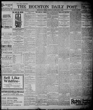 Primary view of object titled 'The Houston Daily Post (Houston, Tex.), Vol. ELEVENTH YEAR, No. 274, Ed. 1, Friday, January 3, 1896'.