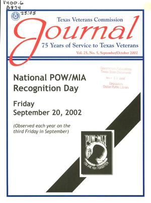 Primary view of object titled 'Texas Veterans Commission Journal, Volume 25, Issue 5, September/October 2002'.