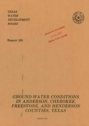 Primary view of object titled 'Ground-Water Conditions in Anderson, Cherokee, Freestone, and Henderson Counties, Texas'.