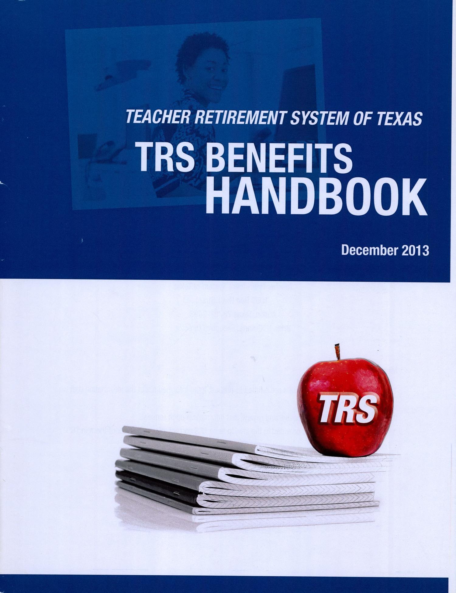 teacher retirement system of texas trs benefits handbook