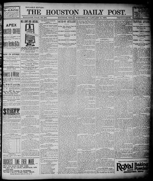 Primary view of object titled 'The Houston Daily Post (Houston, Tex.), Vol. ELEVENTH YEAR, No. 286, Ed. 1, Wednesday, January 15, 1896'.