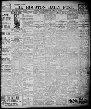 Primary view of object titled 'The Houston Daily Post (Houston, Tex.), Vol. ELEVENTH YEAR, No. 287, Ed. 1, Thursday, January 16, 1896'.