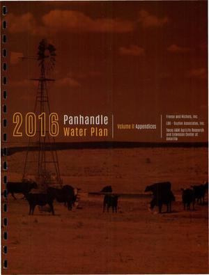 Primary view of object titled 'Regional Water Plan: Region A (Panhandle), 2016, Volume 2. Appendices'.