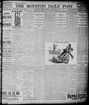 Primary view of object titled 'The Houston Daily Post (Houston, Tex.), Vol. ELEVENTH YEAR, No. 288, Ed. 1, Friday, January 17, 1896'.