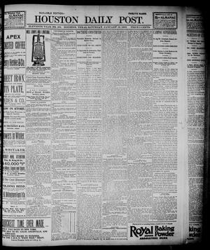 Primary view of object titled 'The Houston Daily Post (Houston, Tex.), Vol. ELEVENTH YEAR, No. 289, Ed. 1, Saturday, January 18, 1896'.