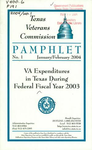Primary view of object titled 'Texas Veterans Commission Pamphlet, Number 1, January/February 2004'.