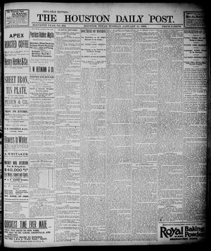 Primary view of object titled 'The Houston Daily Post (Houston, Tex.), Vol. ELEVENTH YEAR, No. 292, Ed. 1, Tuesday, January 21, 1896'.