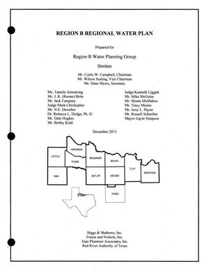 Primary view of object titled 'Regional Water Plan: Region B, 2016, Volume I. Main Report'.