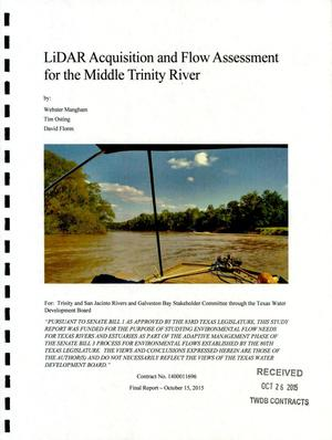 Primary view of object titled 'LiDAR Acquisition and Flow Assessment for the Middle Trinity River'.