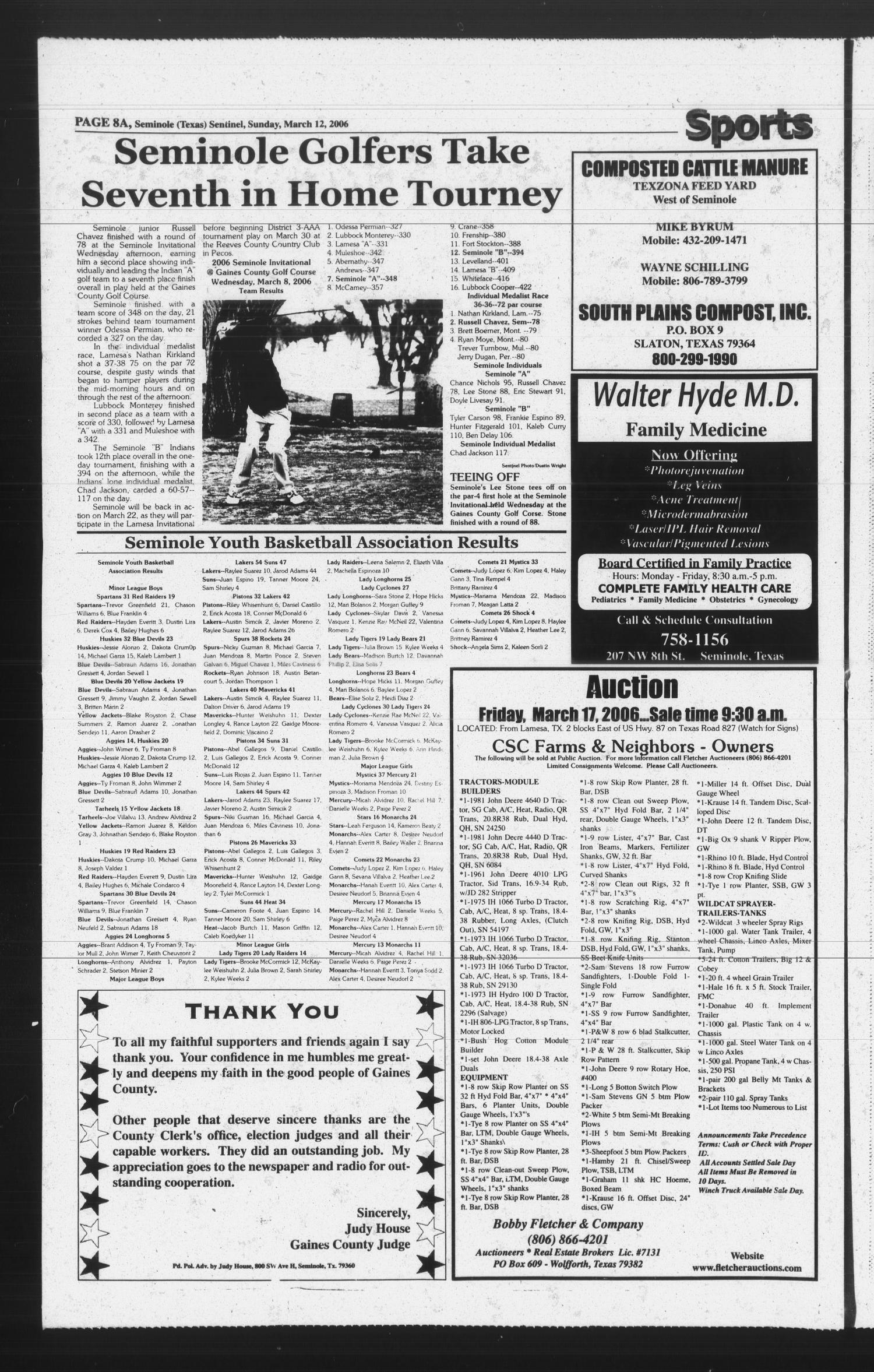 Seminole Sentinel (Seminole, Tex ), Vol  97, No  44, Ed  1