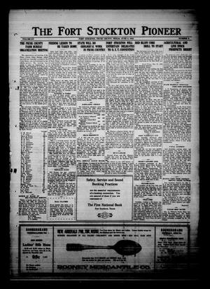 Primary view of The Fort Stockton Pioneer (Fort Stockton, Tex.), Vol. 15, No. 9, Ed. 1 Friday, June 2, 1922