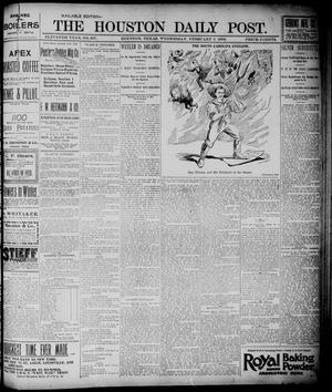 Primary view of object titled 'The Houston Daily Post (Houston, Tex.), Vol. ELEVENTH YEAR, No. 307, Ed. 1, Wednesday, February 5, 1896'.