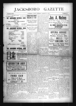 Primary view of object titled 'Jacksboro Gazette (Jacksboro, Tex.), Vol. 33, No. 33, Ed. 1 Thursday, January 16, 1913'.