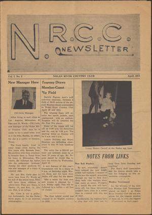 Primary view of object titled 'N. R. C. C. Newsletter ([Cleburne, Tex.]), Vol. 1, No. 2, Ed. 1 Sunday, April 1, 1973'.