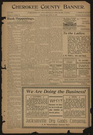 Cherokee County Banner. (Jacksonville, Tex.), Vol. 12, No. 22, Ed. 1 Friday, October 27, 1899