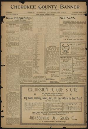 Cherokee County Banner. (Jacksonville, Tex.), Vol. 12, No. 18, Ed. 1 Friday, September 29, 1899