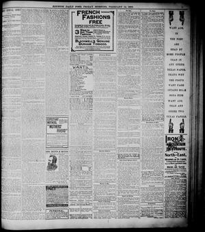 Primary view of object titled 'The Houston Daily Post (Houston, Tex.), Vol. ELEVENTH YEAR, No. 316, Ed. 1, Friday, February 14, 1896'.