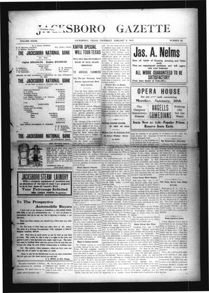 Primary view of object titled 'Jacksboro Gazette (Jacksboro, Tex.), Vol. 33, No. 32, Ed. 1 Thursday, January 9, 1913'.