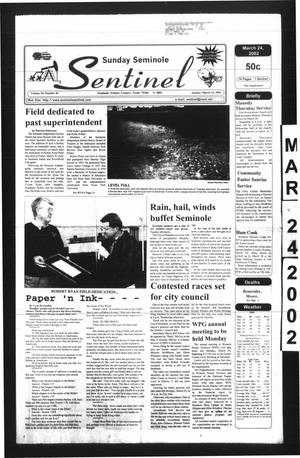 Primary view of object titled 'Seminole Sentinel (Seminole, Tex.), Vol. 95, No. 46, Ed. 1 Sunday, March 24, 2002'.