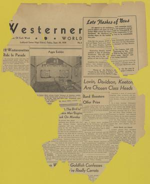 Primary view of object titled 'The Westerner World (Lubbock, Tex.), No. 2, Ed. 1 Friday, September 29, 1939'.