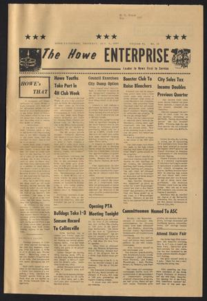 Primary view of object titled 'The Howe Enterprise (Howe, Tex.), Vol. 6, No. 13, Ed. 1 Thursday, October 9, 1969'.