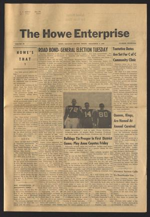 Primary view of object titled 'The Howe Enterprise (Howe, Tex.), Vol. 4, No. 18, Ed. 1 Thursday, November 3, 1966'.