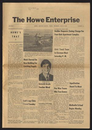 Primary view of object titled 'The Howe Enterprise (Howe, Tex.), Vol. 5, No. 49, Ed. 1 Thursday, June 19, 1969'.