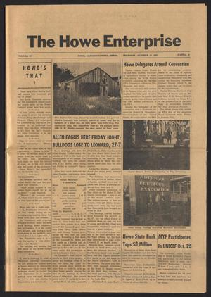 Primary view of object titled 'The Howe Enterprise (Howe, Tex.), Vol. 4, No. 15, Ed. 1 Thursday, October 19, 1967'.