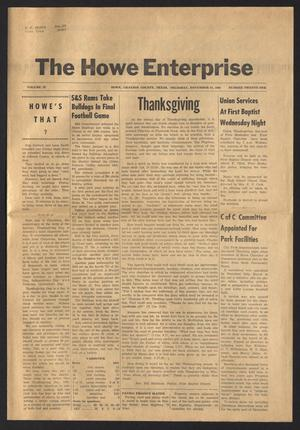 Primary view of object titled 'The Howe Enterprise (Howe, Tex.), Vol. 4, No. 21, Ed. 1 Thursday, November 24, 1966'.