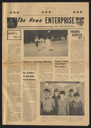 Primary view of object titled 'The Howe Enterprise (Howe, Tex.), Vol. 6, No. 11, Ed. 1 Thursday, September 25, 1969'.