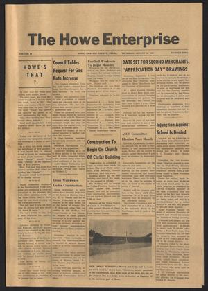 Primary view of object titled 'The Howe Enterprise (Howe, Tex.), Vol. 4, No. 5, Ed. 1 Thursday, August 10, 1967'.