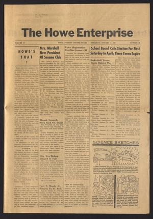 Primary view of object titled 'The Howe Enterprise (Howe, Tex.), Vol. 4, No. 26, Ed. 1 Thursday, January 5, 1967'.